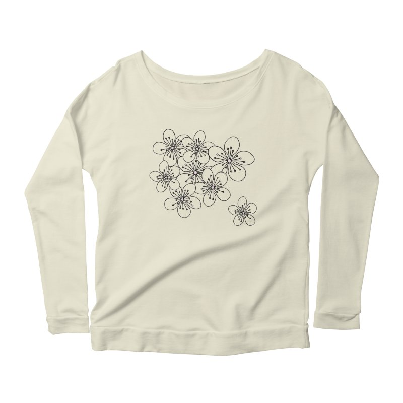 Cherry Blossom Pink and Mint Blocks Women's Scoop Neck Longsleeve T-Shirt by Project M's Artist Shop