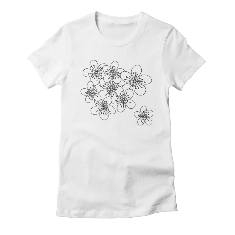 Cherry Blossom Pink and Mint Blocks Women's Fitted T-Shirt by Project M's Artist Shop