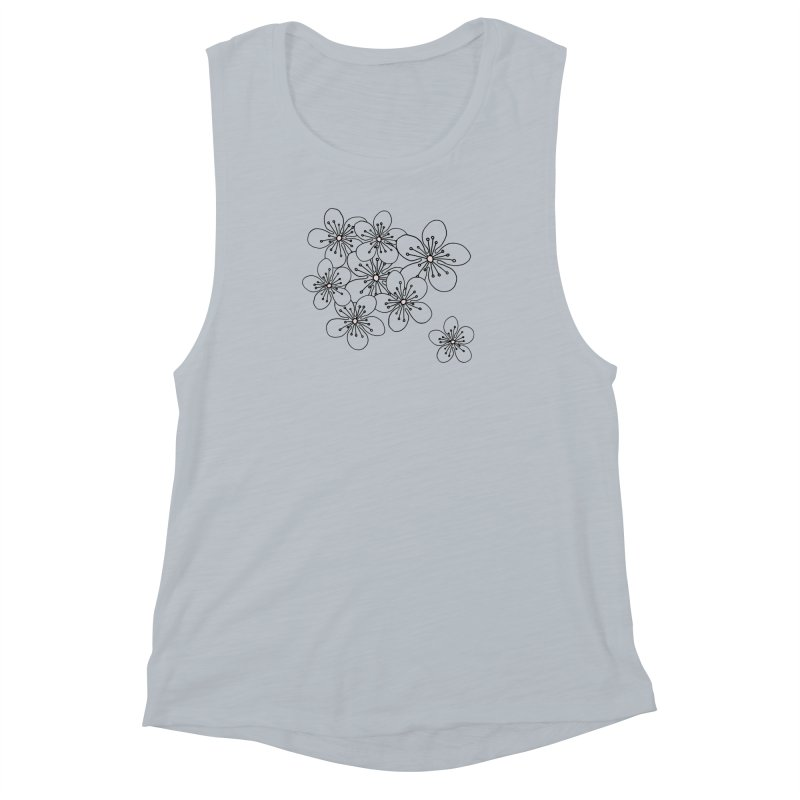 Cherry Blossom Pink and Mint Blocks Women's Muscle Tank by Project M's Artist Shop