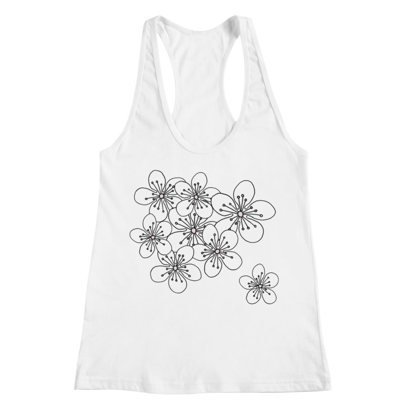 Cherry Blossom Pink and Mint Blocks Women's Racerback Tank by Project M's Artist Shop