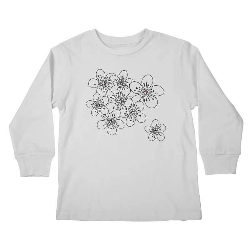Cherry Blossom Pink and Mint Blocks Kids Longsleeve T-Shirt by Project M's Artist Shop