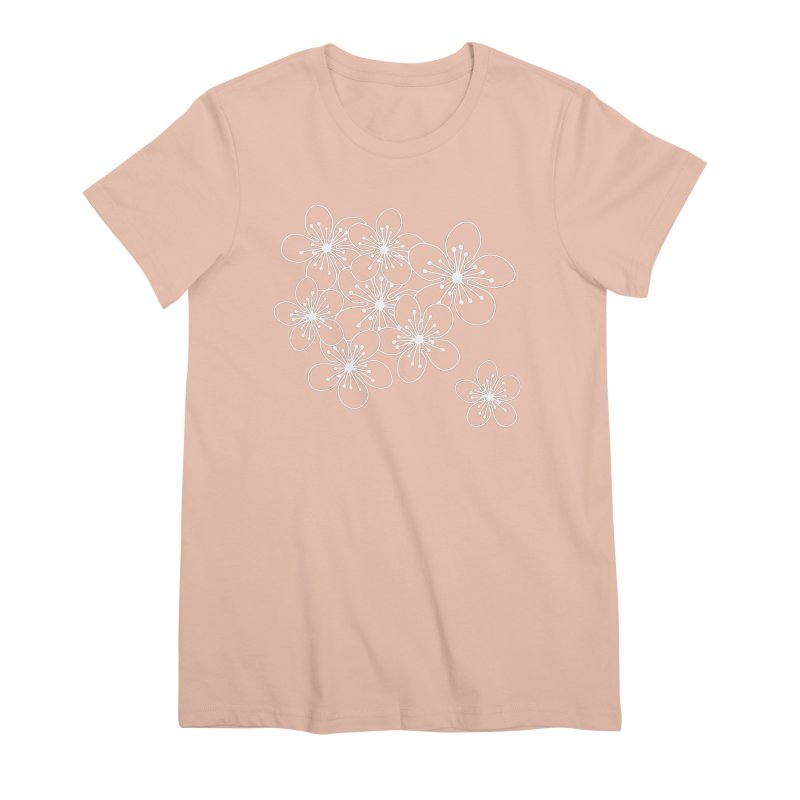 Cherry Blossom Grid Women's Premium T-Shirt by Project M's Artist Shop