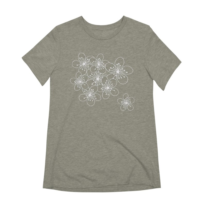 Cherry Blossom Grid Women's Extra Soft T-Shirt by Project M's Artist Shop