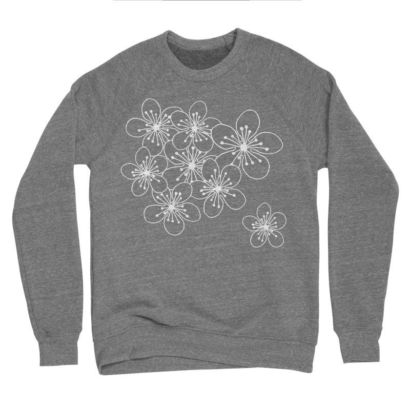 Cherry Blossom Grid Women's Sponge Fleece Sweatshirt by Project M's Artist Shop