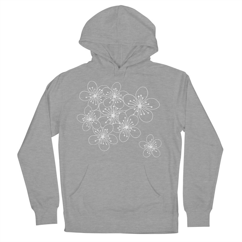 Cherry Blossom Grid Women's Pullover Hoody by Project M's Artist Shop