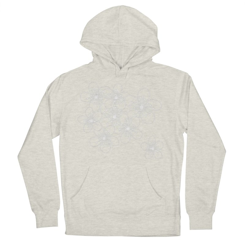 Cherry Blossom Grid Men's French Terry Pullover Hoody by Project M's Artist Shop