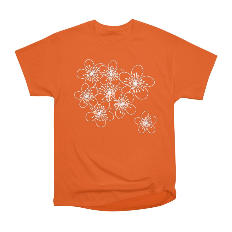 Cherry Blossom Grid Men's Heavyweight T-Shirt by Project M's Artist Shop