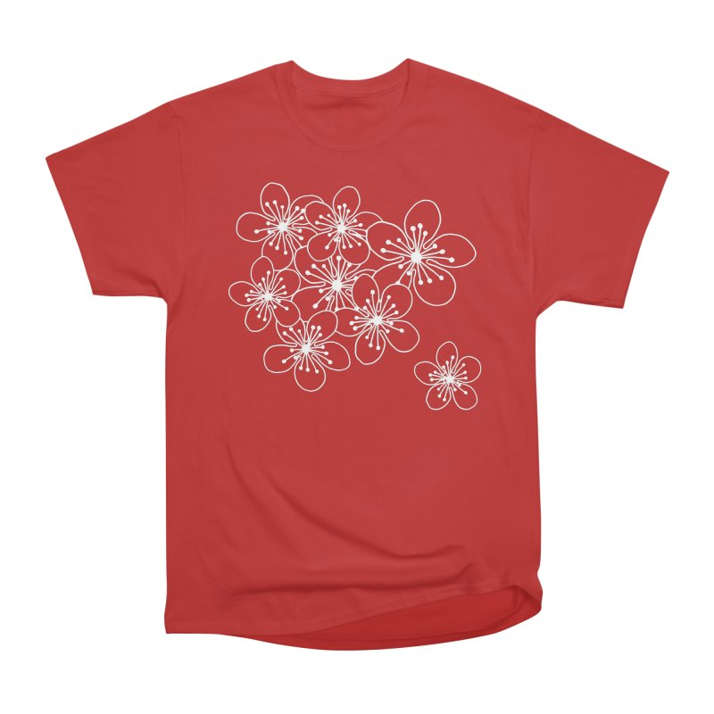 Cherry Blossom Grid Men's Heavyweight T-Shirt by Project M's Artist Shop