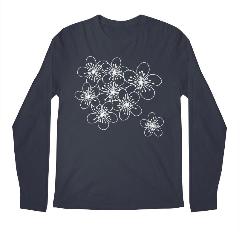 Cherry Blossom Grid Men's Regular Longsleeve T-Shirt by Project M's Artist Shop