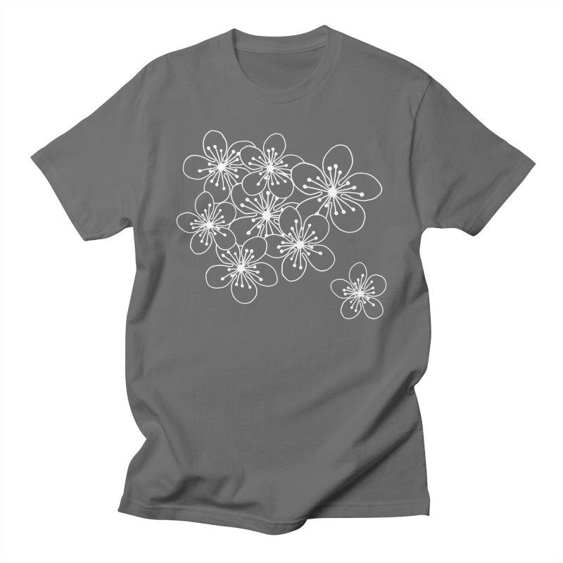 Cherry Blossom Grid Women's Regular Unisex T-Shirt by Project M's Artist Shop