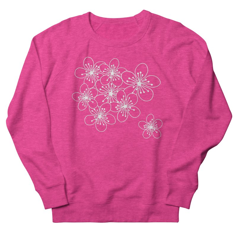 Cherry Blossom Grid Men's French Terry Sweatshirt by Project M's Artist Shop