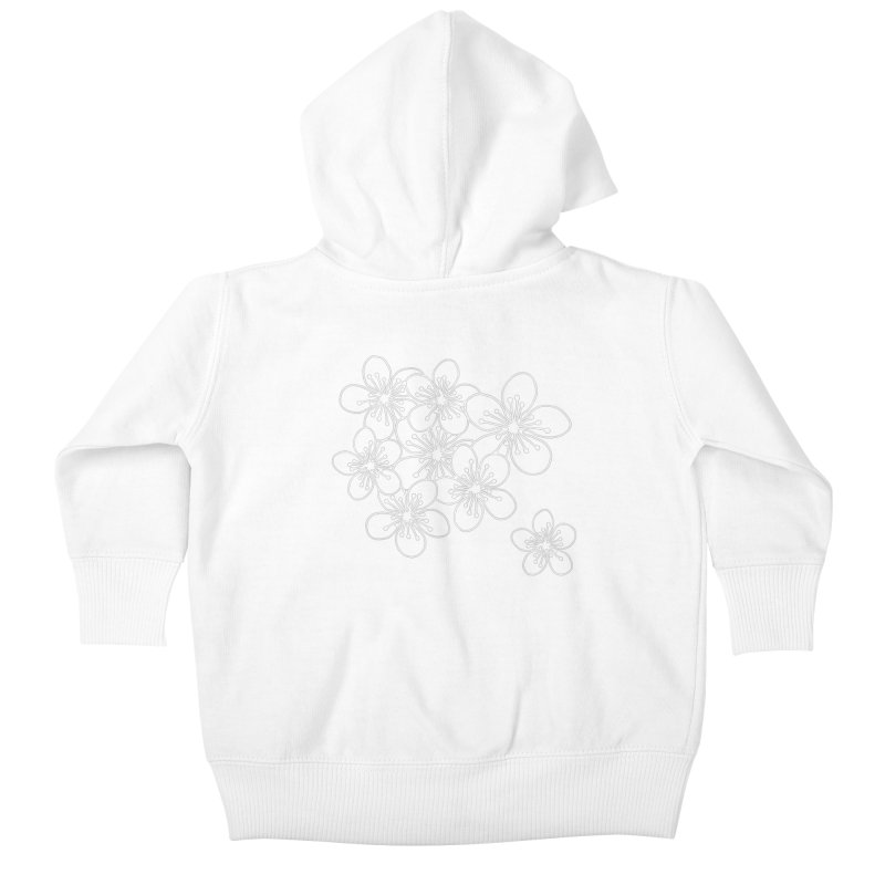 Cherry Blossom Grid Kids Baby Zip-Up Hoody by Project M's Artist Shop
