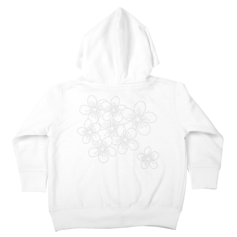 Cherry Blossom Grid Kids Toddler Zip-Up Hoody by Project M's Artist Shop