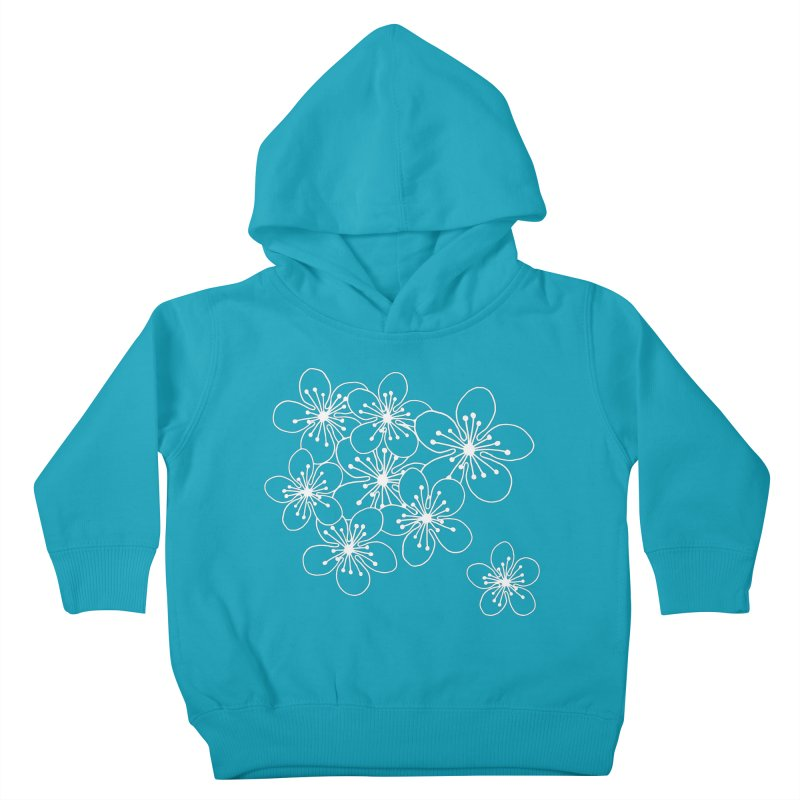 Cherry Blossom Grid Kids Toddler Pullover Hoody by Project M's Artist Shop