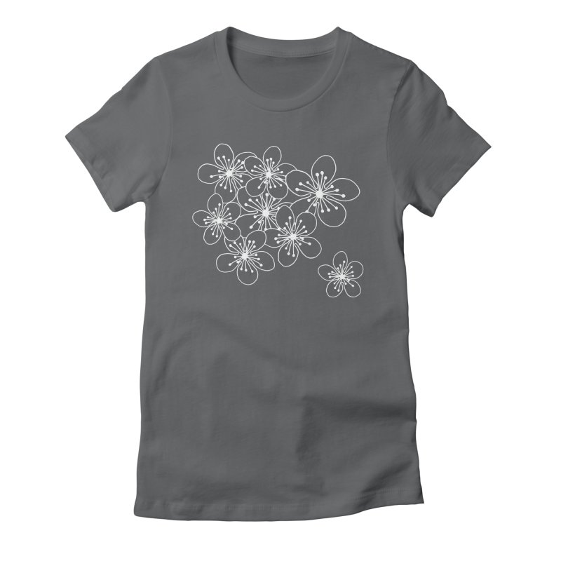Cherry Blossom Grid Women's Fitted T-Shirt by Project M's Artist Shop