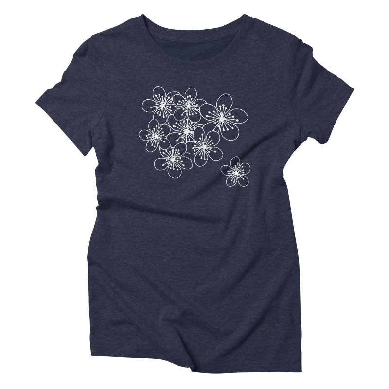 Cherry Blossom Grid Women's Triblend T-Shirt by Project M's Artist Shop