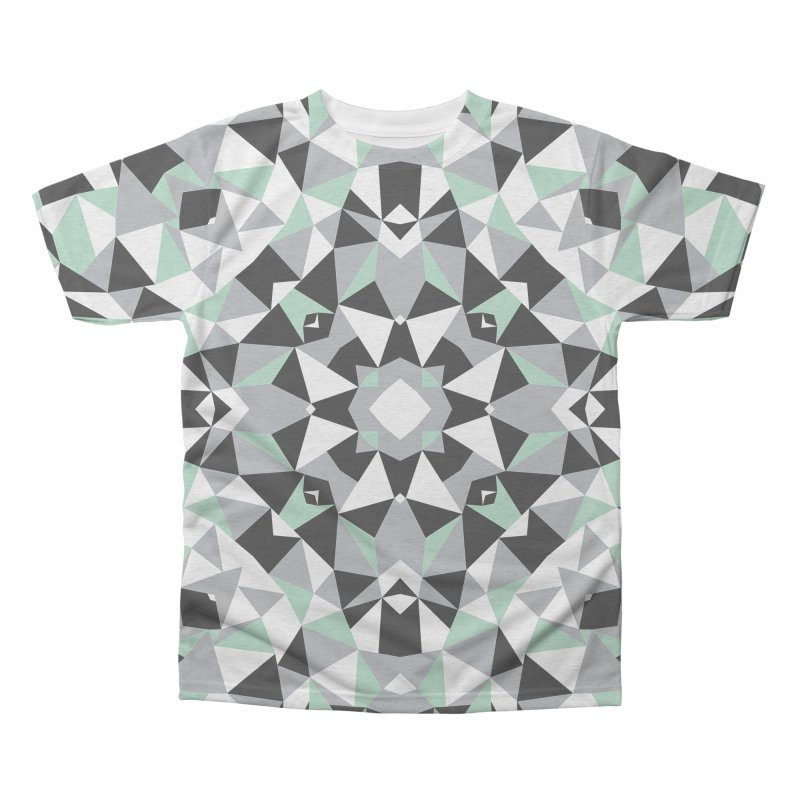 Kalidoscope Mint Men's Triblend All Over Print by Project M's Artist Shop