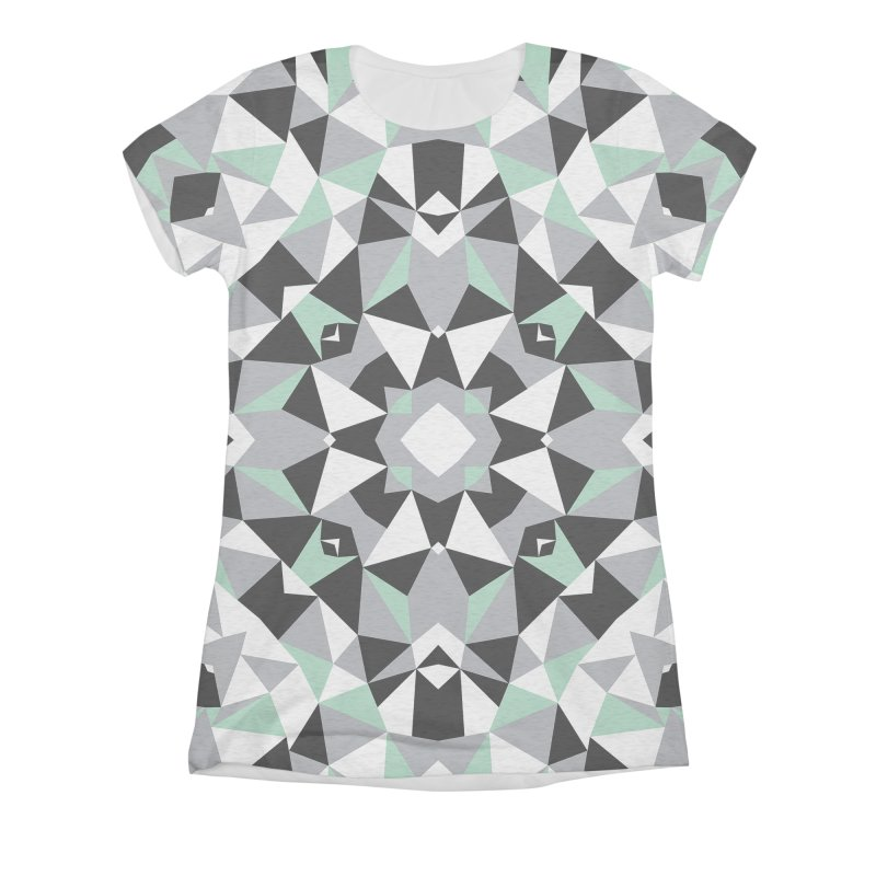 Kalidoscope Mint Women's Triblend All Over Print by Project M's Artist Shop