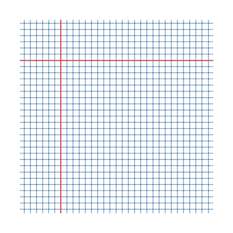 Dotted Grid Red White and Blue by Project M's Artist Shop