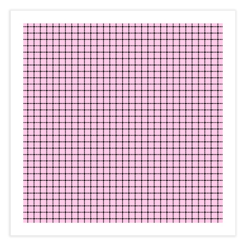 Dotted Grid Blush Home Bath Mat by Project M's Artist Shop