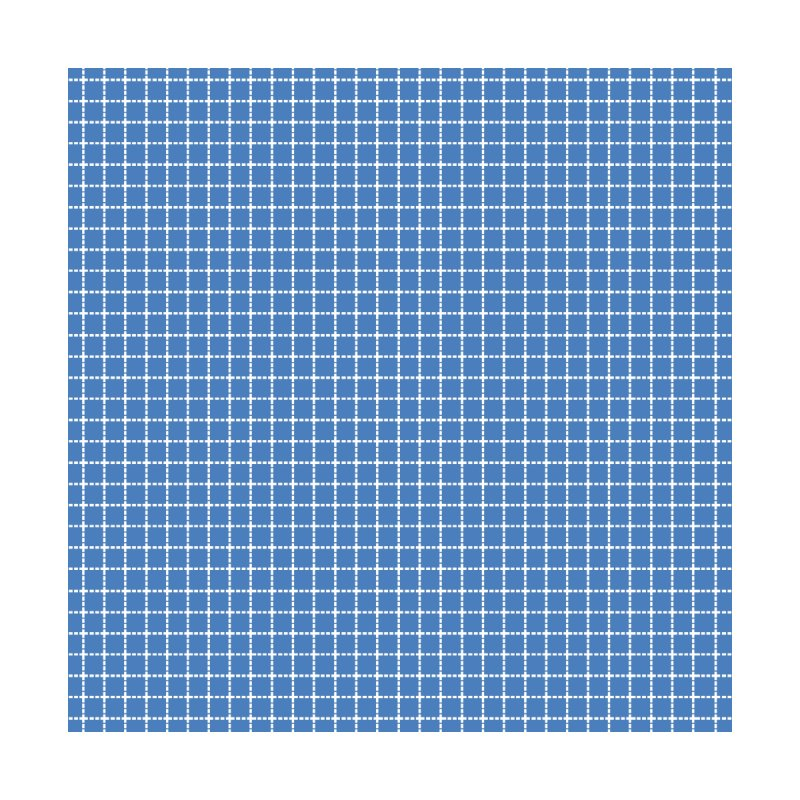 Dotted Grid Blue by Project M's Artist Shop