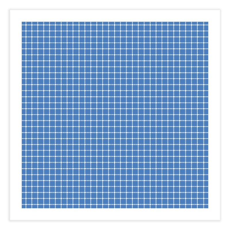 Dotted Grid Blue Home Fine Art Print by Project M's Artist Shop