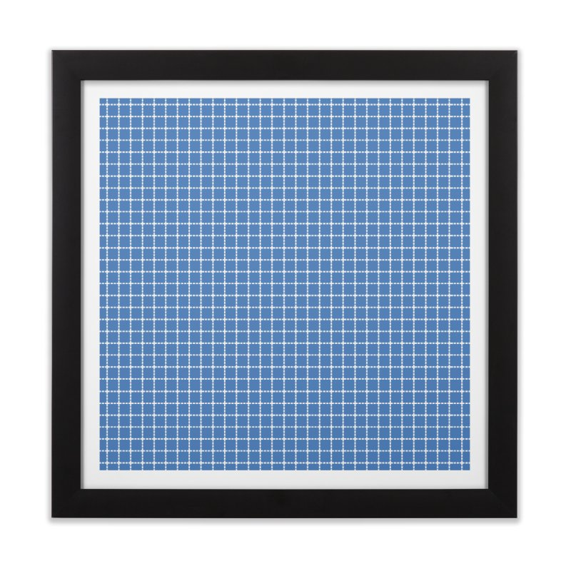 Dotted Grid Blue Home Framed Fine Art Print by Project M's Artist Shop
