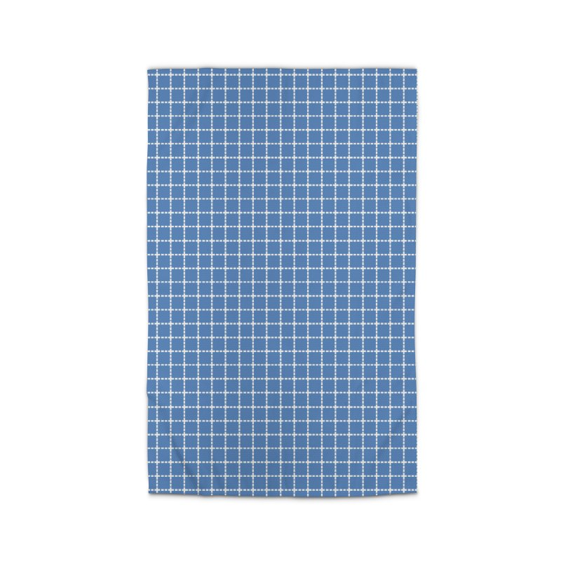 Dotted Grid Blue Home Rug by Project M's Artist Shop