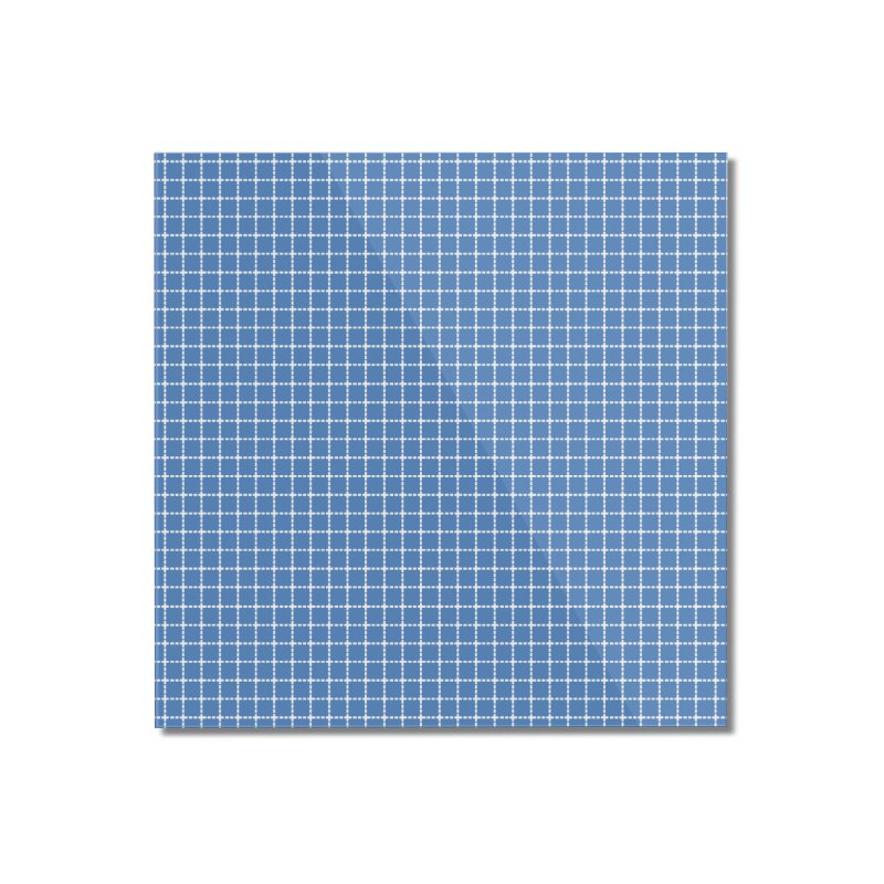 Dotted Grid Blue Home Mounted Acrylic Print by Project M's Artist Shop