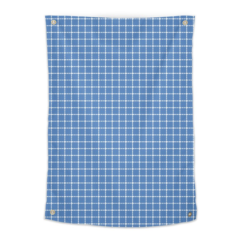 Dotted Grid Blue Home Tapestry by Project M's Artist Shop