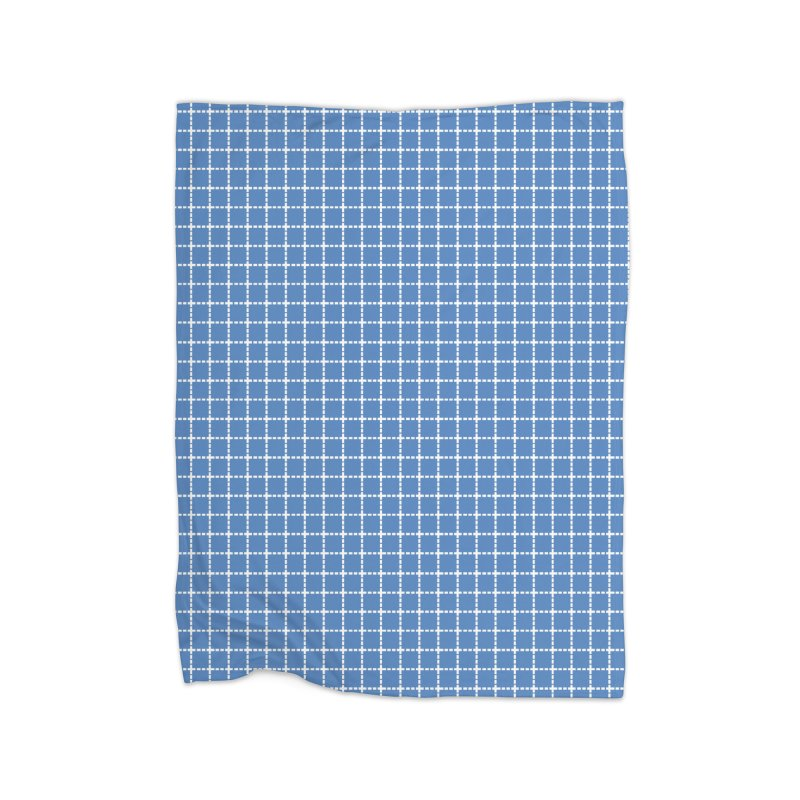 Dotted Grid Blue Home Blanket by Project M's Artist Shop