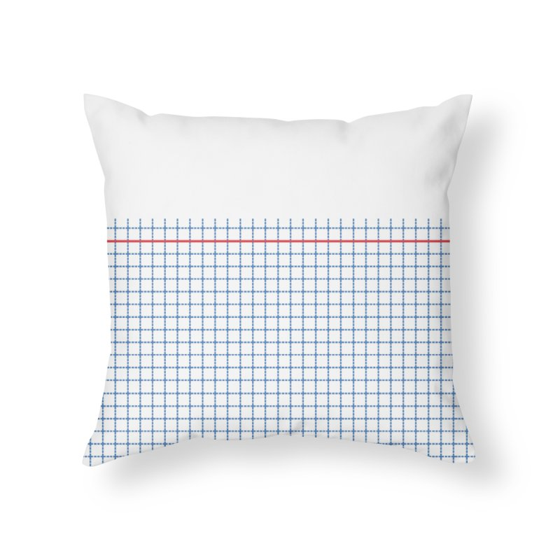 Dotted Grid Boarder Red White and Blue Home Throw Pillow by Project M's Artist Shop