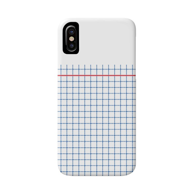 Dotted Grid Boarder Red White and Blue Accessories Phone Case by Project M's Artist Shop