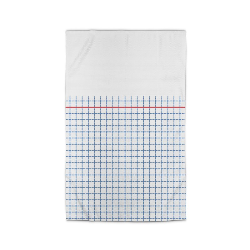 Dotted Grid Boarder Red White and Blue Home Rug by Project M's Artist Shop