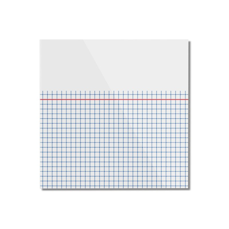 Dotted Grid Boarder Red White and Blue Home Mounted Acrylic Print by Project M's Artist Shop