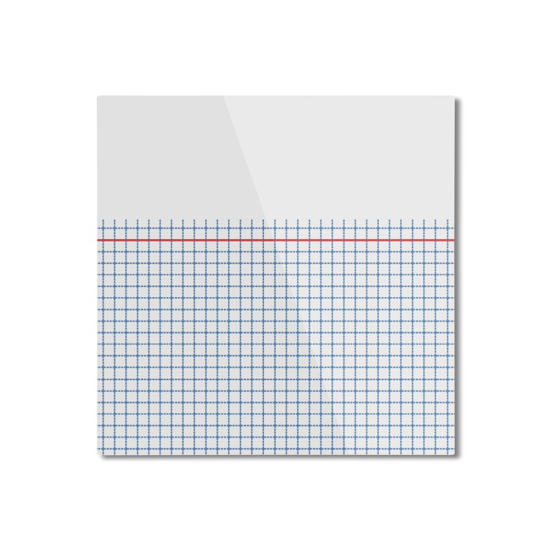 Dotted Grid Boarder Red White and Blue Home Mounted Aluminum Print by Project M's Artist Shop