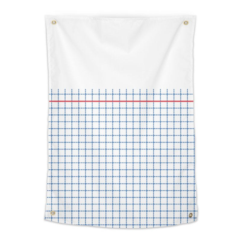 Dotted Grid Boarder Red White and Blue Home Tapestry by Project M's Artist Shop