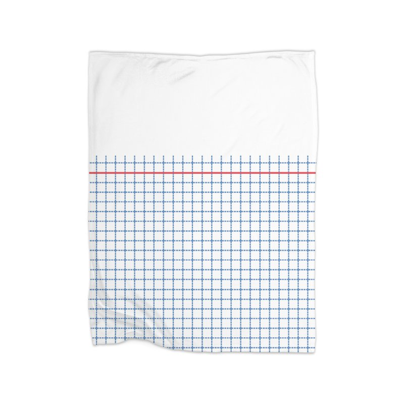 Dotted Grid Boarder Red White and Blue Home Blanket by Project M's Artist Shop