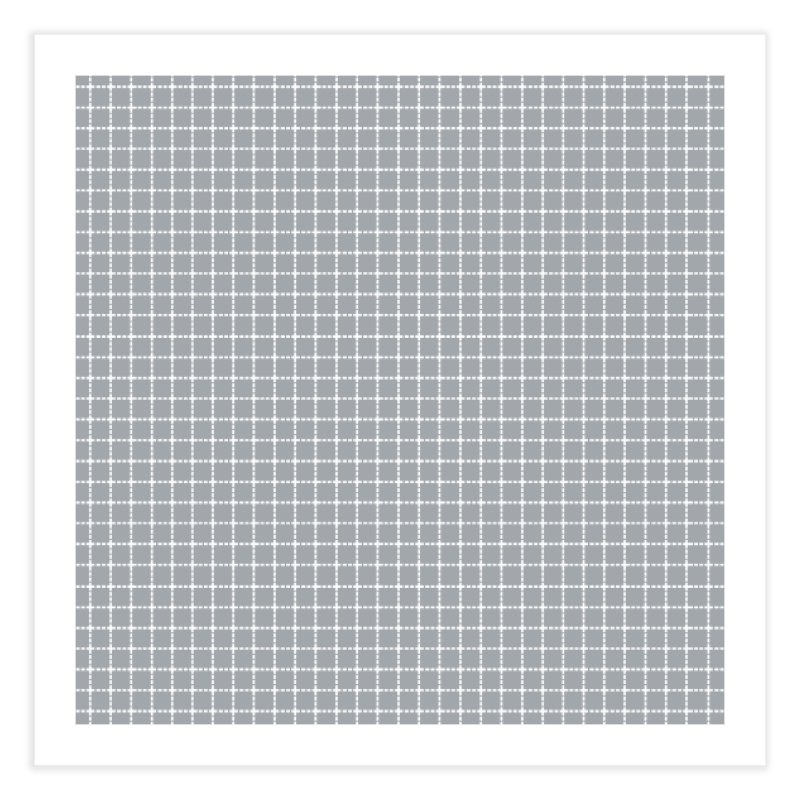 Dotted Grid Grey Home Fine Art Print by Project M's Artist Shop
