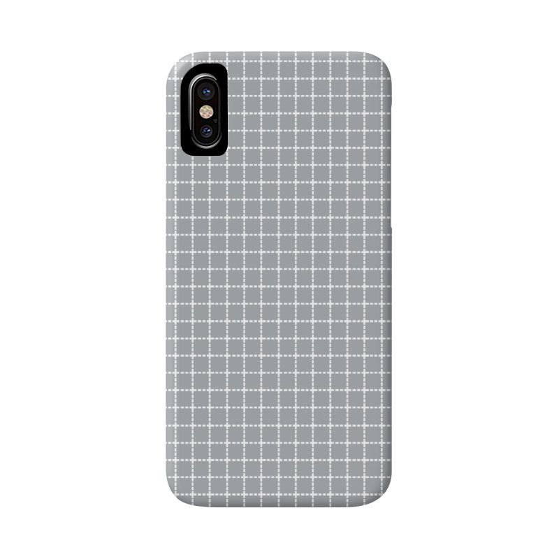 Dotted Grid Grey Accessories Phone Case by Project M's Artist Shop