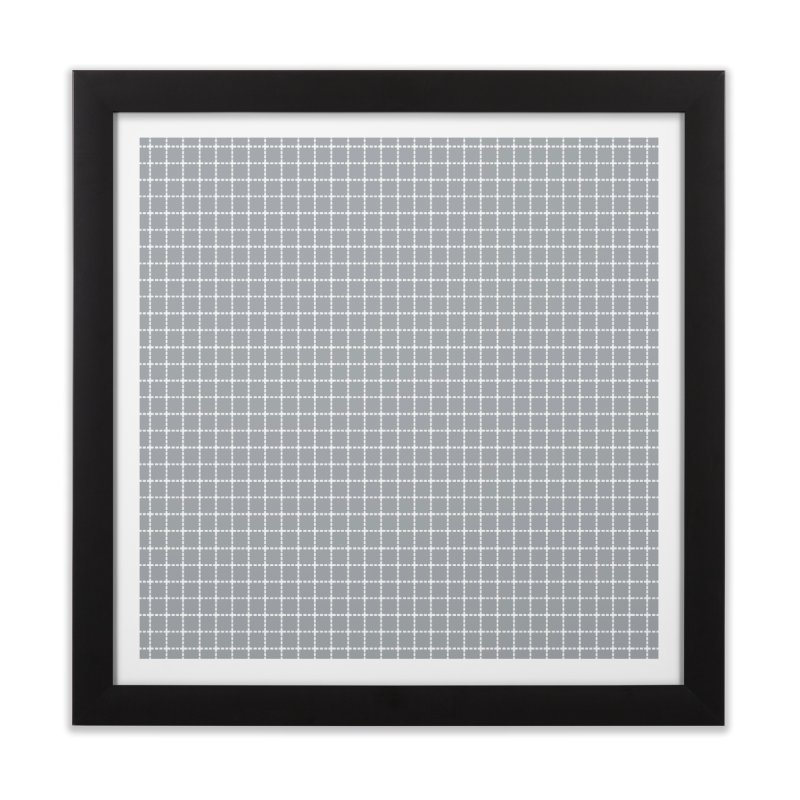 Dotted Grid Grey Home Framed Fine Art Print by Project M's Artist Shop