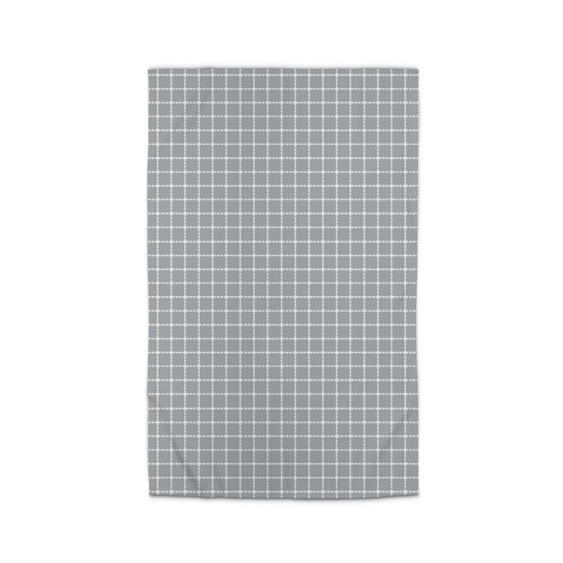 Dotted Grid Grey Home Rug by Project M's Artist Shop