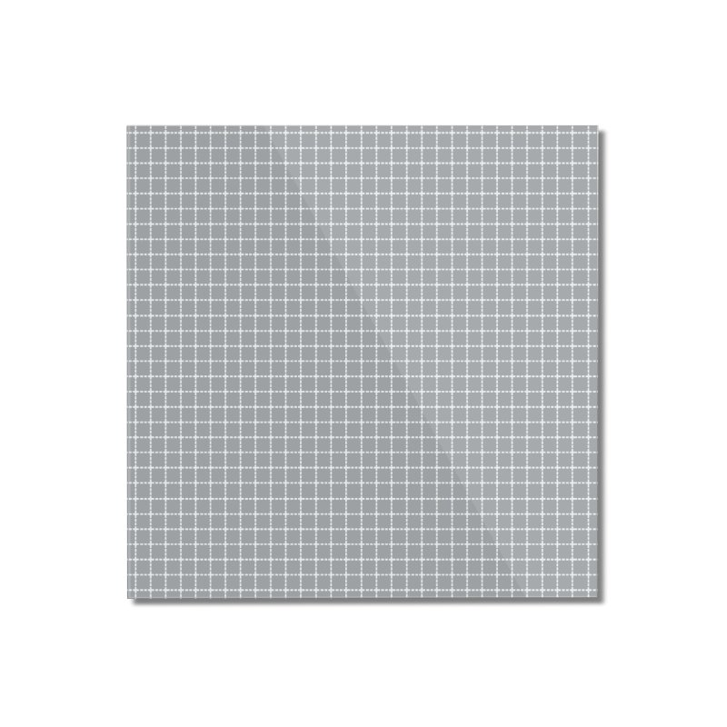Dotted Grid Grey Home Mounted Acrylic Print by Project M's Artist Shop