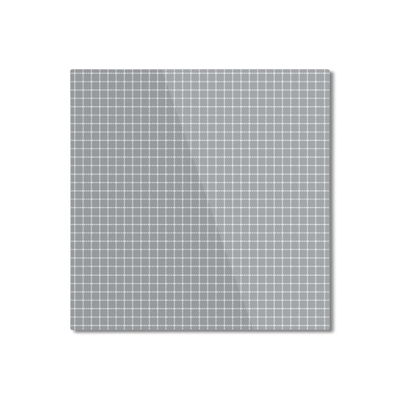 Dotted Grid Grey Home Mounted Aluminum Print by Project M's Artist Shop