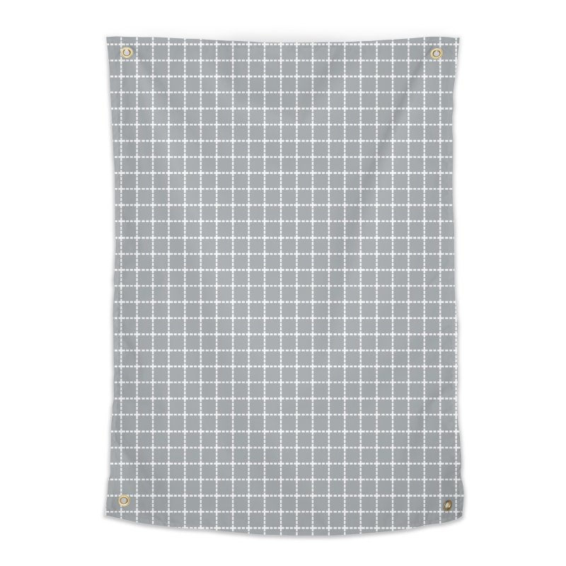 Dotted Grid Grey Home Tapestry by Project M's Artist Shop