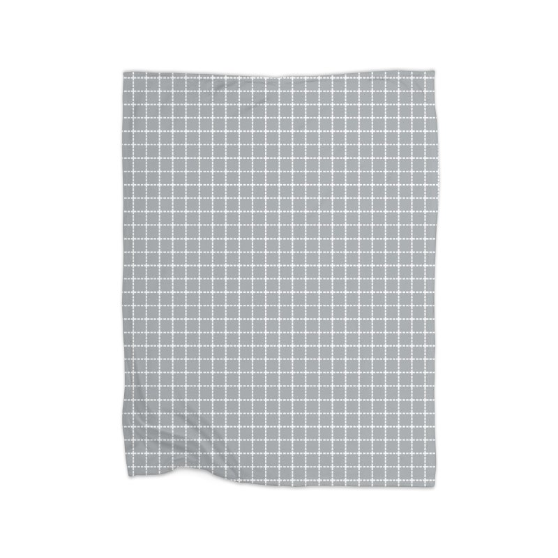 Dotted Grid Grey Home Blanket by Project M's Artist Shop