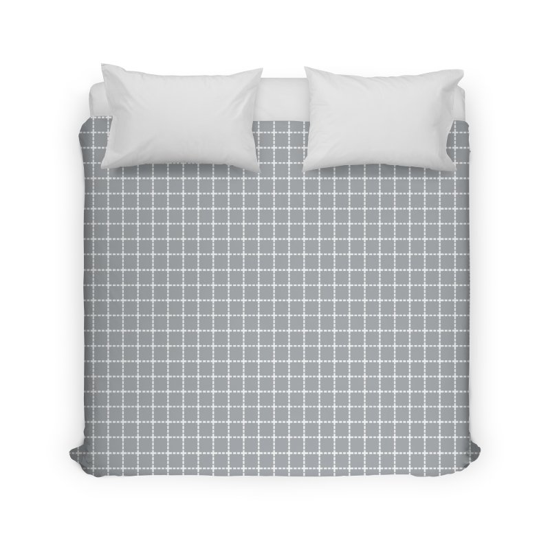 Dotted Grid Grey Home Duvet by Project M's Artist Shop