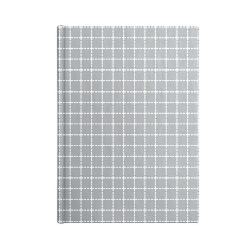 Dotted Grid Grey Accessories Notebook by Project M's Artist Shop