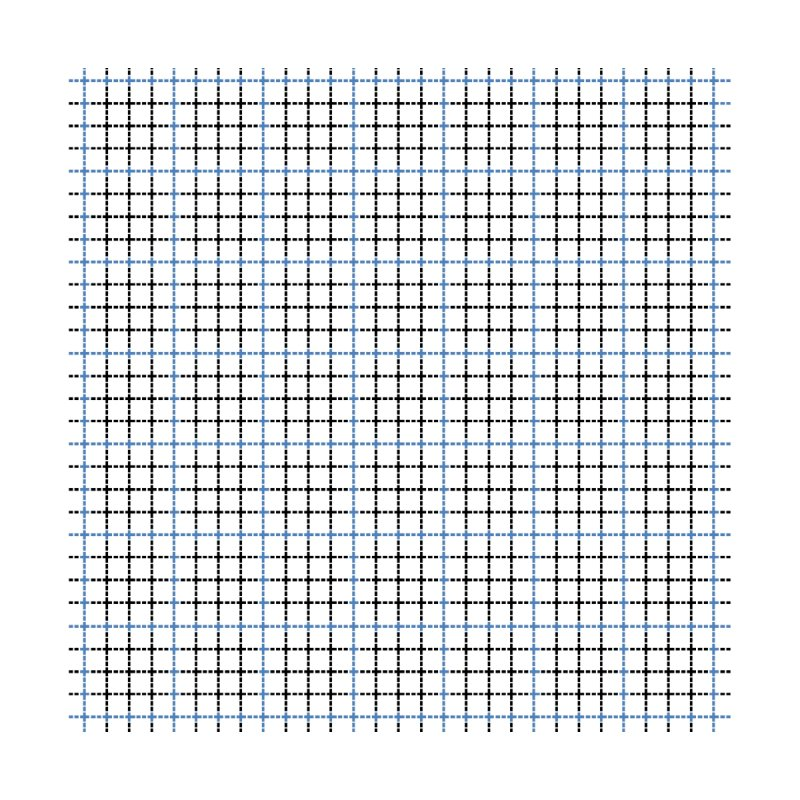 Dotted Grid Weave Blue Black by Project M's Artist Shop
