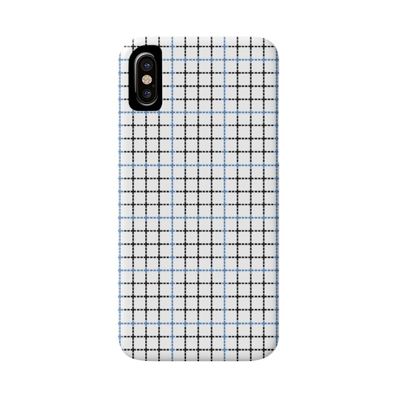 Dotted Grid Weave Blue Black Accessories Phone Case by Project M's Artist Shop